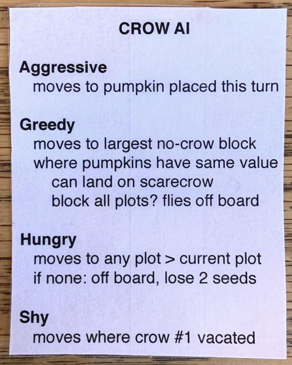 pumpkin patch bad seeds - crow ai