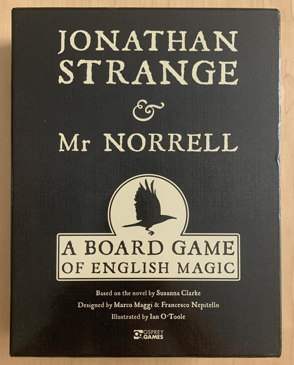 jonathan strange & Mr Norrell board game box