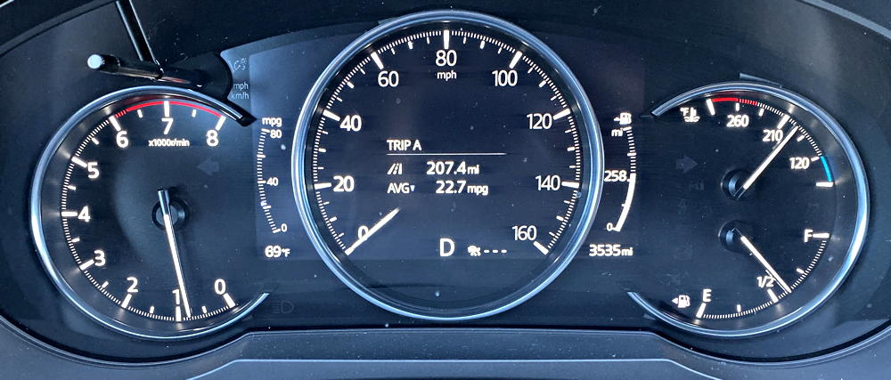 2019 mazda cx-9 signature main gauge display