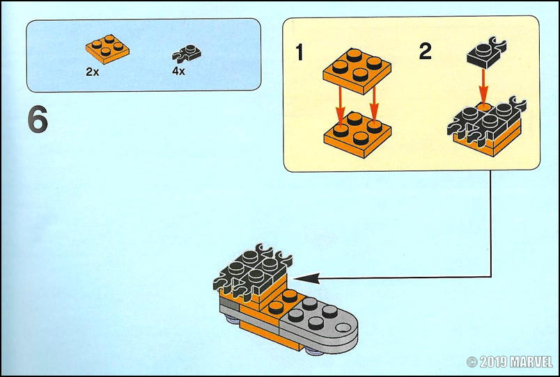 lego marvel kit - assembly instructions