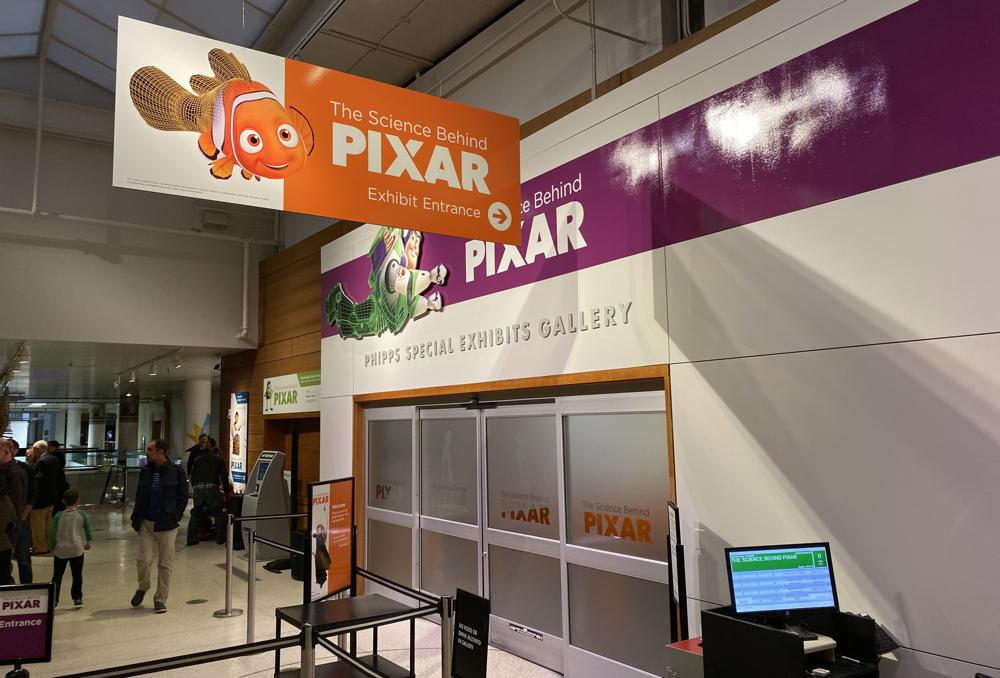 dmns pixar signage