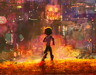 painting from coco - science behind pixar exhibit - denver museum nature science