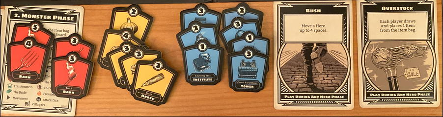 horrified board game tokens, items, and perks