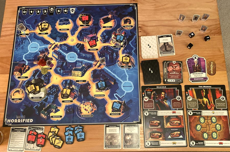 horrified board game setup solo play