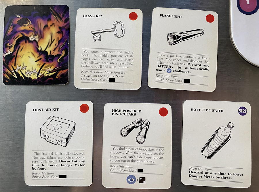 CYOA House of Danger from Z-Man Games -  item close up