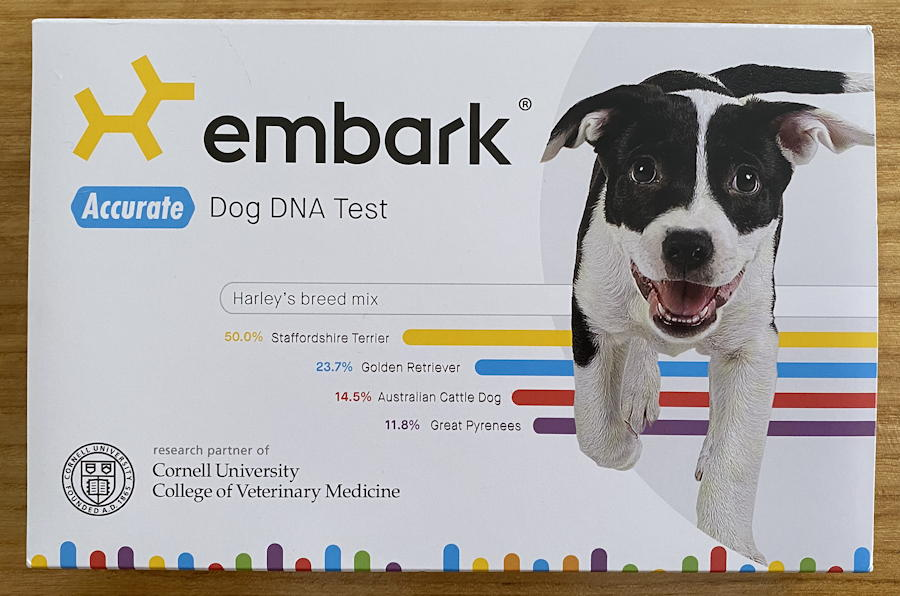 embark dog dna test box - halsey