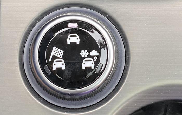 2019 fiat 500x - drive mode control dial
