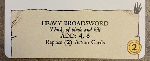 forgotten depths game - item: heavy broadsword