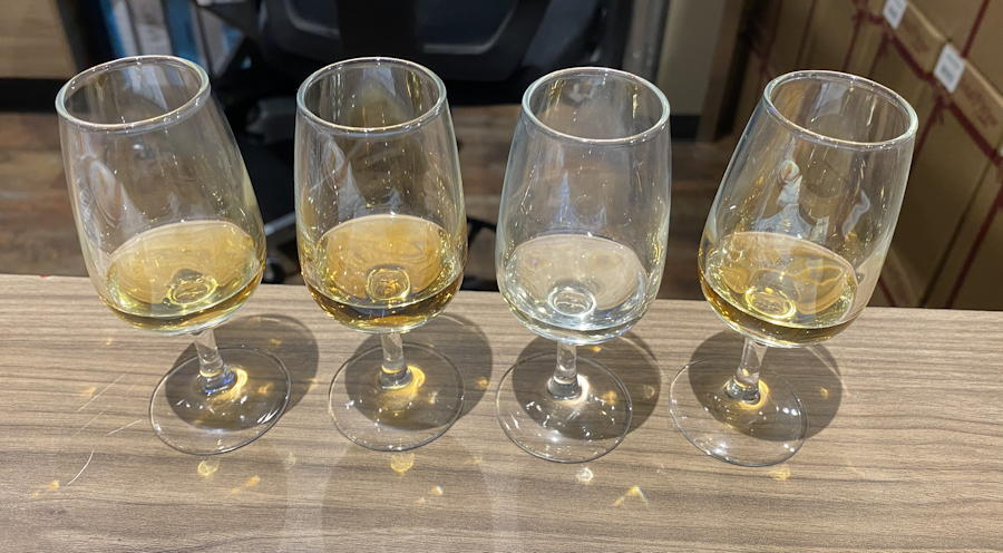whisky samples tasting