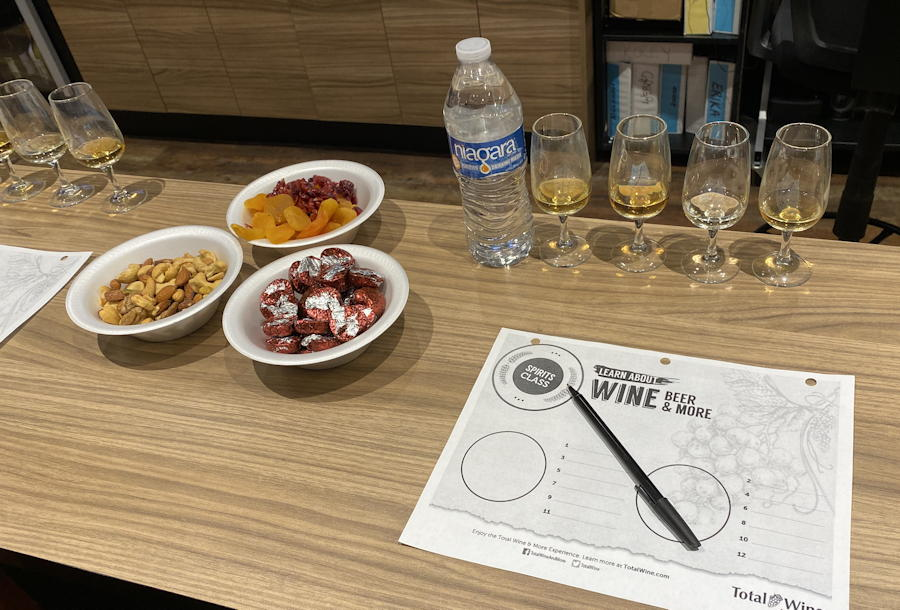 total wine whiskey tasting class