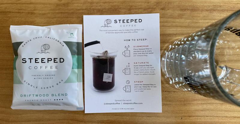 steeped coffee santa cruz taste test - how to