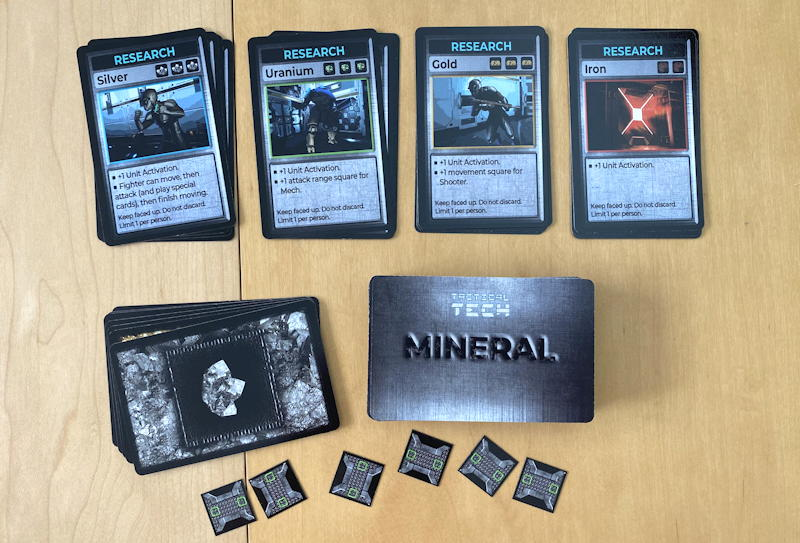 tactical tech board game - mineral cards