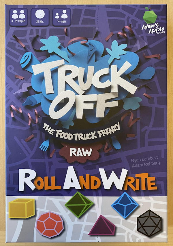 truck off roll and write food truck frenzy game review box