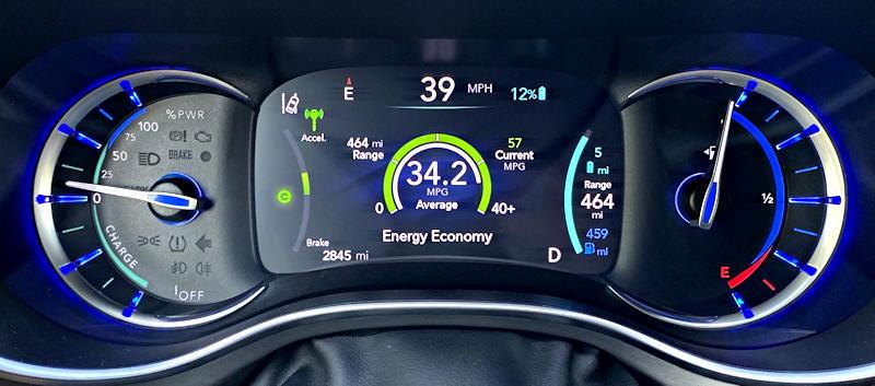 2019 chrysler pacifica hybrid ltd - main gauge