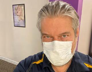 quarantine visit to the stylist haircut salon