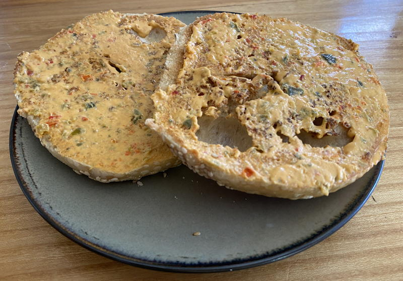 new york bagel of the month club - everything bagel jalapeno cream cheese