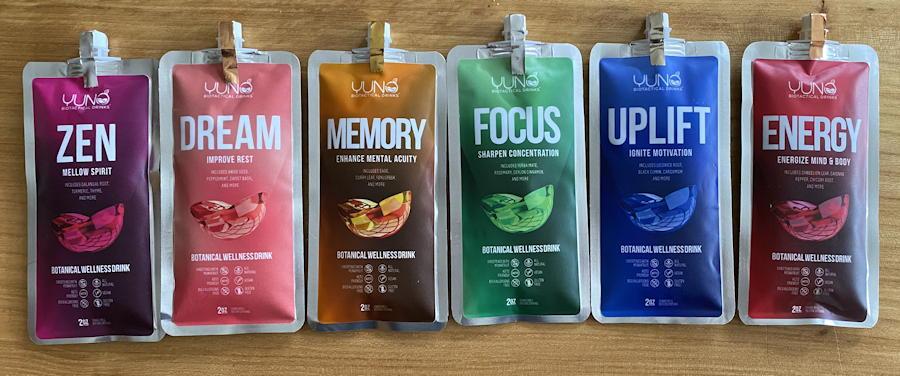 yuno biotactical drinks samples flavors blends