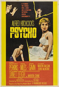 psycho movie poster one sheet