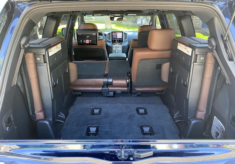 2020 toyota land cruiser - rear interior