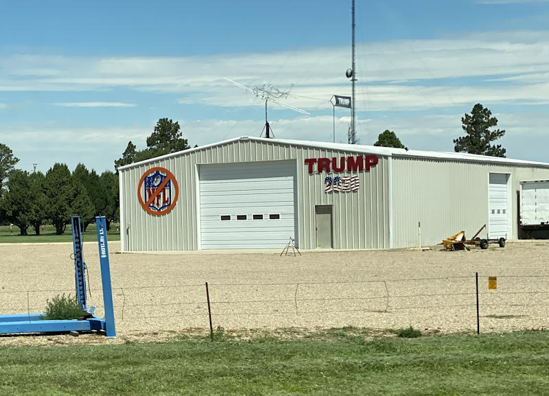 no nfl pro trump garage, eastern colorado
