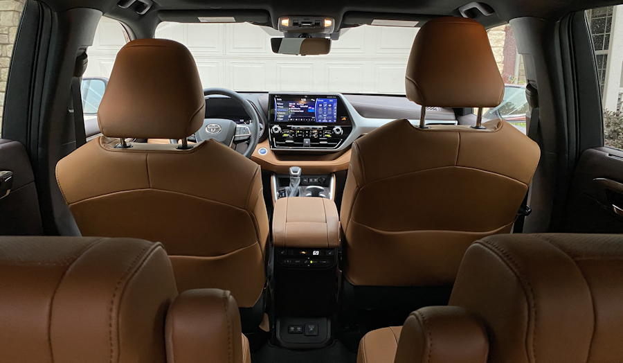 2020 toyota highlander hybrid ltd - interior 4 seat
