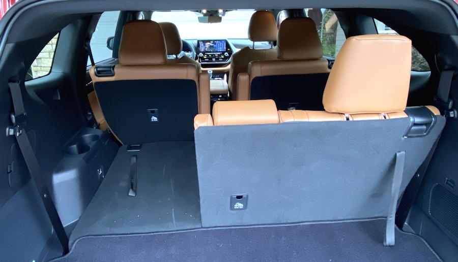 2020 toyota highlander hybrid ltd - 60/40 third row seat