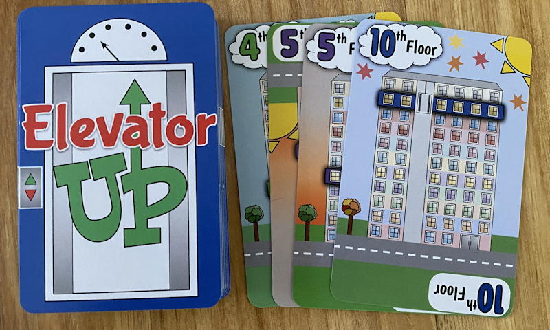 elevator up card game - discard pile