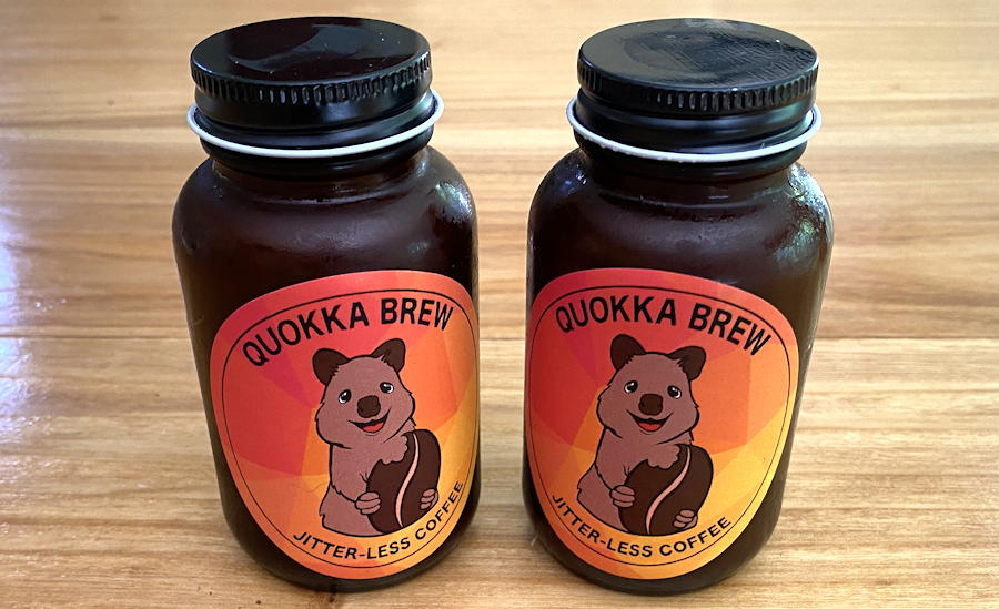 quokka brew - jitterless coffee - sample bottles