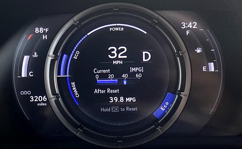 2020 lexus ux 250h f sport - main gauge