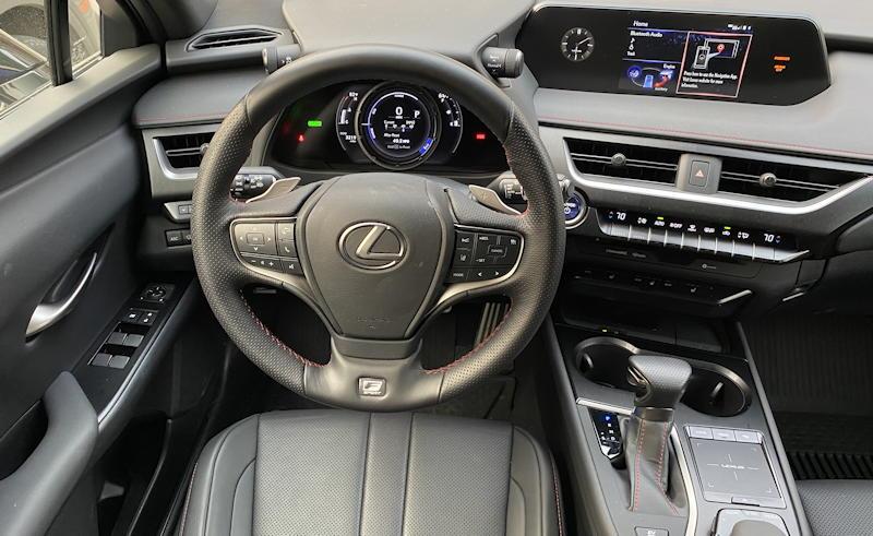 2020 lexus ux 250h f sport - drivers seat cockpit layout