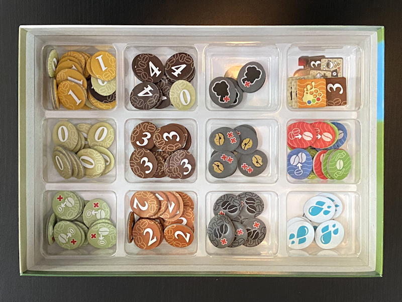 coffee roaster game - tokens in tray