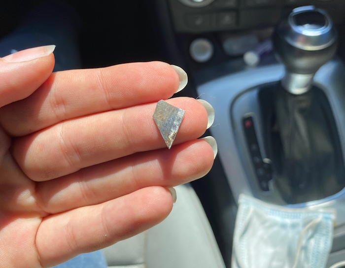 shard out of flat tire