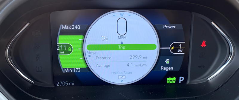 2020 chevy bolt ev premium - main gauge - m/kwh