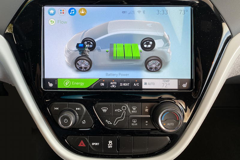 2020 chevy bolt ev premium - battery display