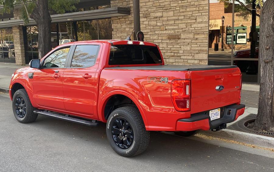 2020 ford ranger lariat 4x4 exterior rear