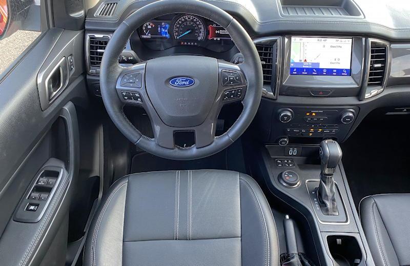 2020 ford ranger lariat - dash layout