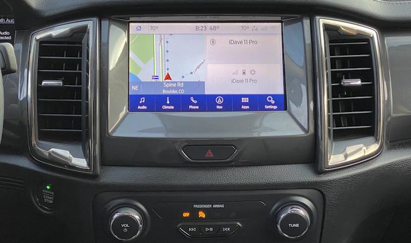 2020 ford ranger lariat - infotainment system