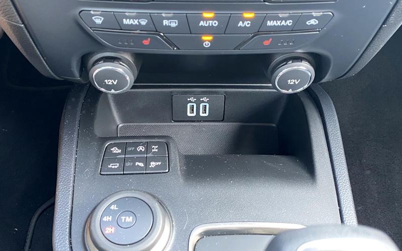 2020 ford ranger lariat - 4x4 controls