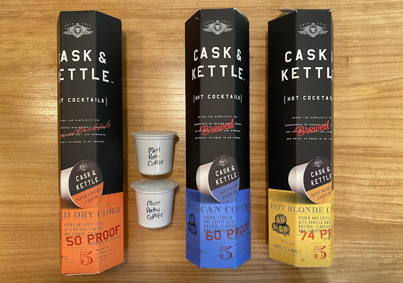 cask & kettle keurig alcohol cups pods coffee - packaging