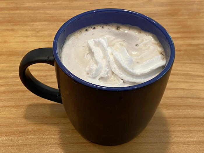 mexican coffee with whipped cream - cask kettle keurig kcup coffee