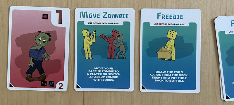 zombiefilled card game review - scour move