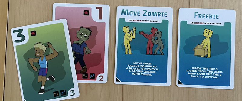 zombiefilled card game review - defeated a zombie