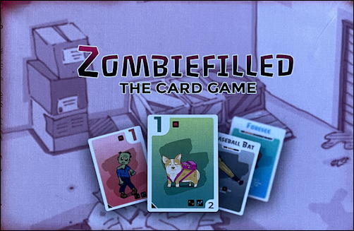 zombiefilled card game review - box art