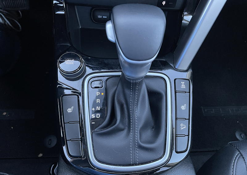 2021 kia seltos sx turbo awd - gear shift