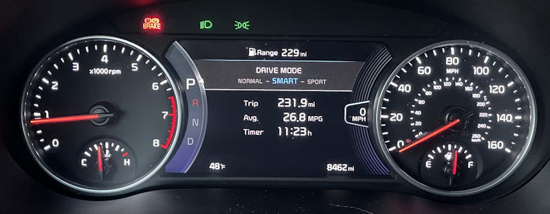 2021 kia seltos sx turbo awd - main gauge display