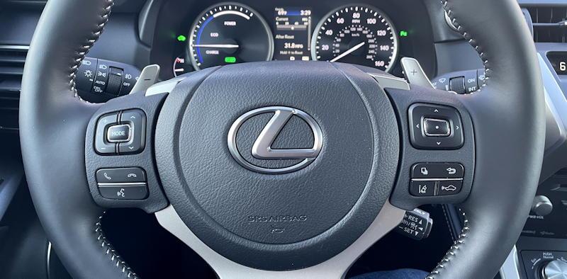 2021 lexus nx 300h luxury - steering wheel controls