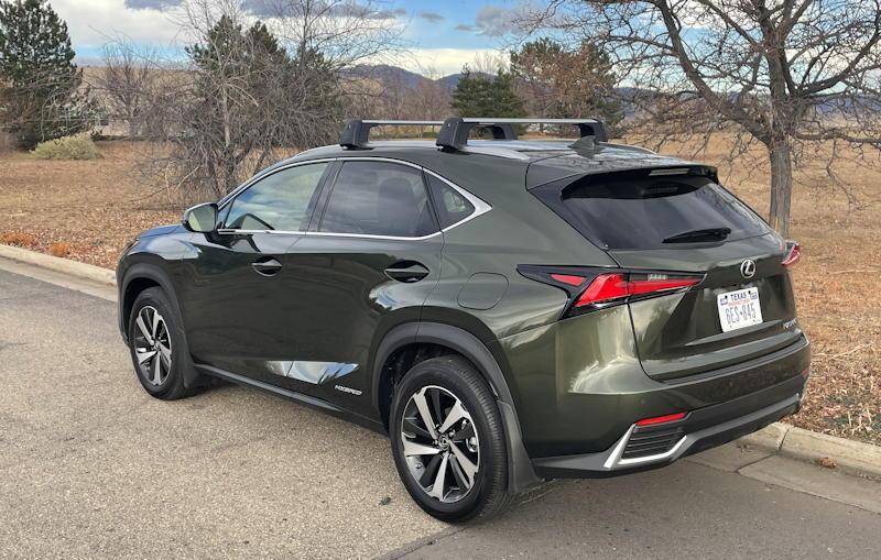 2021 lexus nx 300h luxury - rear exterior