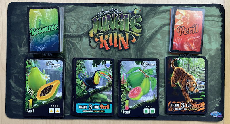 amazing jungle run game - ready to play on player mat
