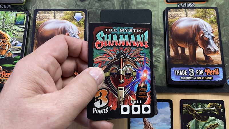 amazing jungle run game - show hidden card shaman