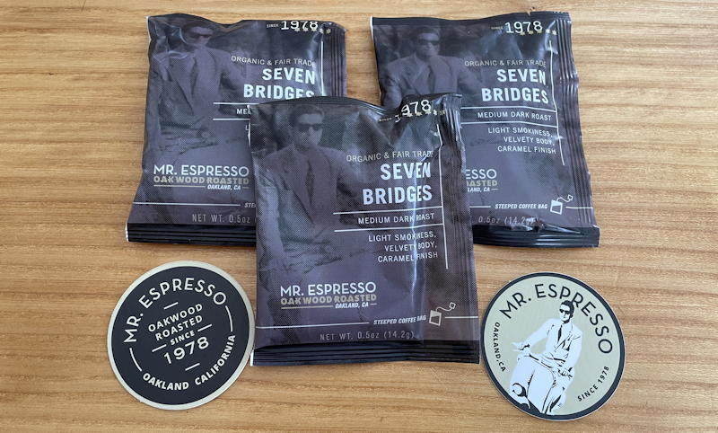 mr espresso - steeped coffee bags in packaging